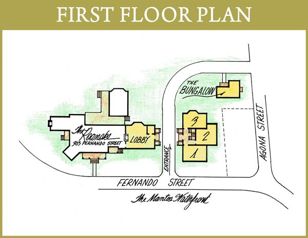 Roanoke Island Inn First Floor Plan