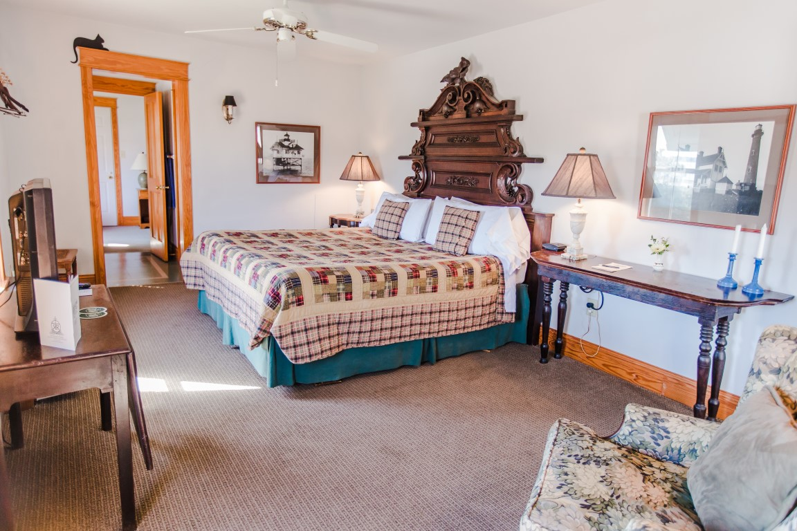 Upstairs Room 7 Family Suite King Bed and Connection to Twin Bed Room