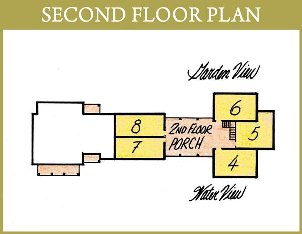 Roanoke Island Inn Second Floor Plan