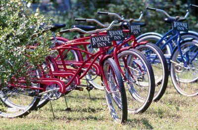 Take a ride on one of The Roanoke Island Inn's bikes
