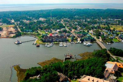 Manteo Waterfront within walking distance from The Roanoke Island Inn